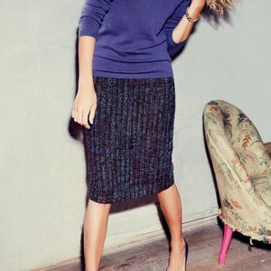 Boden Notre Dame Tweed Wool Pencil Skirt